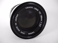 CANON 135/3.5 FD LENS PERFECT GLASS SMOOTH great portrait LENS