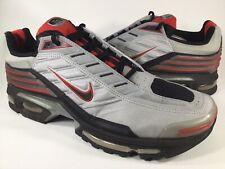 Nike Air Max Plus 4 Metallic Silver Black Sport Red Mens Size 13 Rare 302486-001