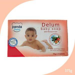 Panda Baby Delum Baby Soap Bathing Family Pack with Pomegranate Extract 75gX5pcs