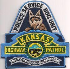 K-9  DHF  KANSAS * HIGHWAY PATROL * Police Patch Polizei Abzeichen Hundeführer
