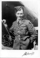 STTF22 WWII WW2 RAF Battle of Britain Spitfire Ace UNWIN DFM signed photo