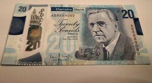 2019 Danske Bank £20 Ireland Belfast Polymer UNC MINT Very Special serial number