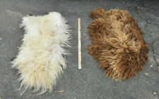 Pair of Vintage Icelandic Genuine Sheepskin Lambskin Sheep skin rug pelts  wool
