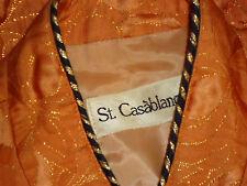 St CASABLANCA SmartGoldEmbossedOrangePartyJktEUC*