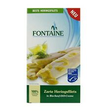 (1,35 EUR/100 g) Fontaine Heringsfilets in Bio Senf Dill Creme 200 g