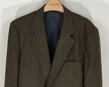MARK SHALE Men's 44L Long Wool Brown Black Check 2 Button Blazer Suit Sport Coat