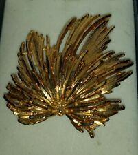 Vintage Brooch Large Gold Tone