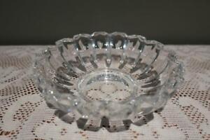 Villeroy Boch Fine Crystal Small Bowl - Tondo - Nuts Lollies Treats - 14.6cm Vgc