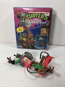 1991 Teenage Mutant Ninja Turtles Don's Telephone Line Rider Backpack TMNT Read