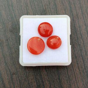 natural Italian coral gemstone cabochon 13\u00d77.5\u00d76 capsule shape coral Italian coral red coral loose coral stone 4.75 crt