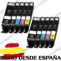 10 CARTUCHOS DE TINTA COMPATIBLES NonOem PARA CANON PIXMA MG5650 MG6650