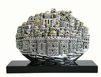 Miniature Holy Jerusalem Panomaric View 925 Electroformed Silver Israel Gift