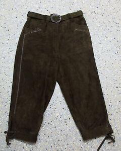 Distler Damen Trachten Kniebund Lederhose Gr. 38  Ziegenvelour L511