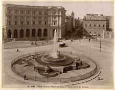 Italie, Roma, Fontana dell'Aqua Marcia nell'Esedra di Termini Vintage