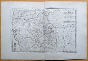 Philippe Original Kupferstich Karte Frankreich La Marche Auvergne Limosin - 1787