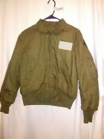 VIETNAM ERA FLYERS JACKET COLD WEATHER 4TH ID MAY 1973 NSN 8415-00-221-8886