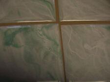 "LIGHT GREEN SEAFOAM MARBLE PLASTIC TILE 4 1/4"" wall bathroom kitchen polystyrene"
