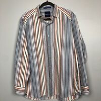 Tommy Bahama MensVertical Striped Long Sleeve Button Front Shirt Size M Multicol
