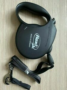 Flexi Retractable CORD Dog Lead BLACK SMALL DOG  New Classic  Design  UP TO 12KG