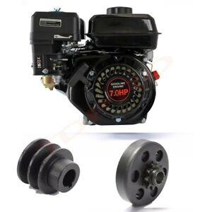 7HP 4-Stroke OHV Horizontal Gas Engine GoKart Log Splitter Recoil Start Motor