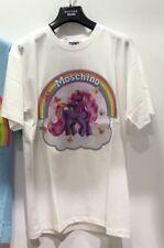 $250 SS18 Moschino Jeremy Scott My Little Pony Cotton White Jersey Tshirt Tee