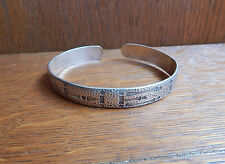 Vintage Camp Fire Girls 925 Sterling Silver Cuff Bracelet Girl Scouts Made USA