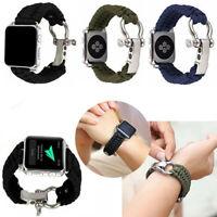 Outdoor Lifesaving strap Nylon Watchband Strap for Apple Watch Series 4 3 2 1