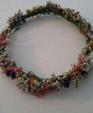 Fatto a mano floreale Circlet Capelli Sposa Daisy Fiore Selvatico CORONA Nuziale Halo essiccati