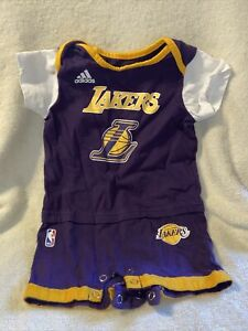 LOS ANGELES LAKERS JERSEY BABY INFANT ONE PIECE JUMPER 3-6 MONTHS