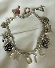 "Handmade charm bracelet - Birthday / Name (""antique silver"")"