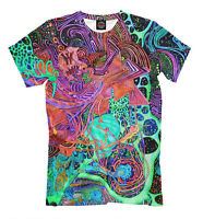 Acid skin - All Over print lsd tee colorful psychedelic t shirt EDM chemical fun