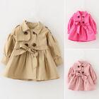 mode bébé filles tout petit enfants vêtements trench manteau