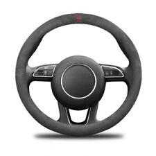 Car Anti-Slip Black Alcantara Suede Steering Wheel Cover For Audi A1 A3 A5 Q5 Q7