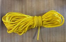 """5/16"""" 100 ft. of hollow braid 8 Strand Polypropylene rope. Yellow. Made in Usa"""