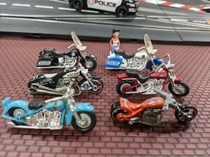 Diecast motorcycles police models group slot car scenics train 1/32 O gauge