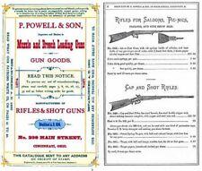 P. Powell and Son Muzzle and Breech Loading Guns 1874 Catalog