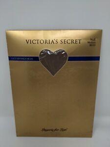 Victoria's Secret Lace Top Thigh Highs Vintage 90s Medium Lingerie for Legs Nude