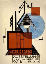Bauhaus 1923 Weimar exposición de Rudolf baschant, Reproducción Póster de A3 250gsm