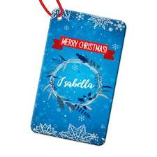 Personalised Any Name Rectangle Christmas Bauble Tree Decoration Gift 158