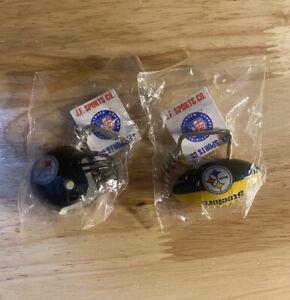 Vintage Pittsburgh Steelers Keychain Mini Helmets football NWT Lot of 2 NFL mini