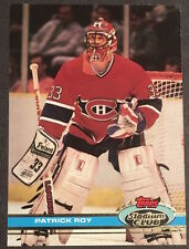 Patrick Roy 1991-1992 Topps Stadium Club Hockey Card #107 Montreal Canadiens