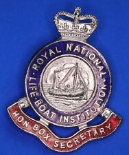More details for royal national lifeboat institution rnli pin badge qc box secretary [22492]