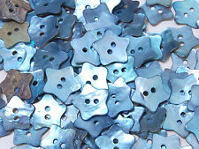 MB136 Light Blue Mother of Pearl Star Shell Buttons Sewing Craft 14.50mm 80pcs