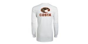 Costa Realtree Edge Camo Long Sleeve T-shirt- White- Pick Size-Free Ship
