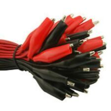 Crocodile Lead Pack of 20 Red and Black Test Leads