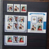 Aitutaki 1982 21st Birthday of Princes of Wales set & Miniature Sheet MNH