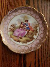 "Limoges France - 4"" Decorative Dish - Lovers"