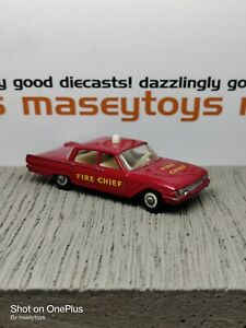 Matchbox Lesney No.59b Ford Fairlane Fire Chief. Super-detailed model