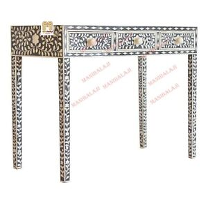 Bone Inlay Console Table console table Furniture with 3 Drawers Home Decor Furni