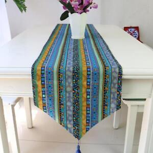Ethnic Bohemian Style Table Runner Tablecloth Mat Cloth 30cmx180cm Green